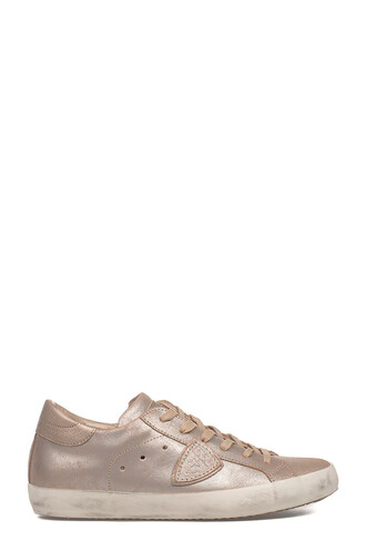 classic sneakers leather pink shoes