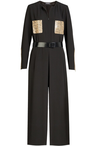 jumpsuit snake leather black