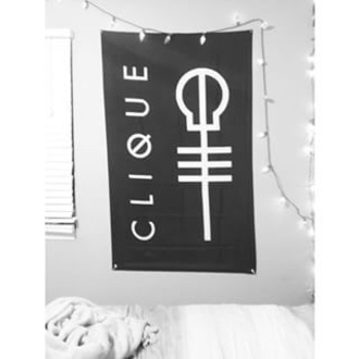 home accessory flag twenty one pilots skeleton clique