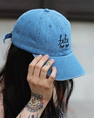 hat casquette babe eyes cap denim cap