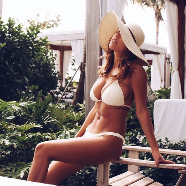 swimwear melissa odabash bikini bikini white bikini white swimwear swimwear two piece hat summer hat