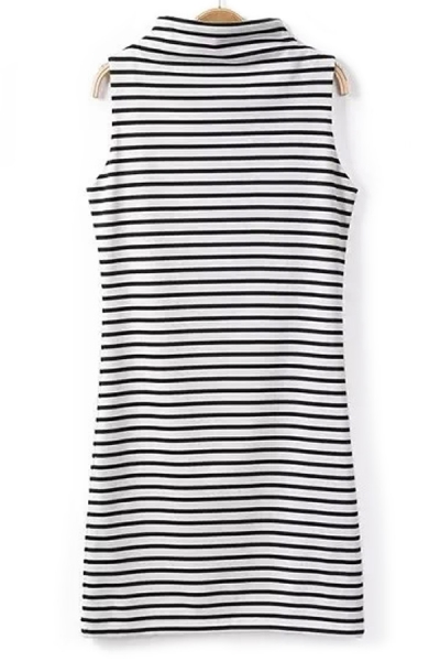 Horizontal Stripe Shift Dress - OASAP.com