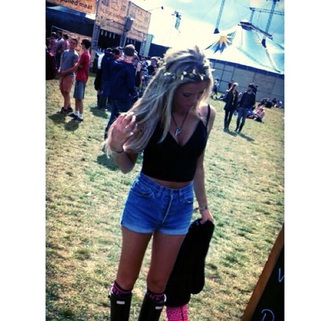 shorts festival festival top festival shorts fashion festival outfit festival style wellies style socks