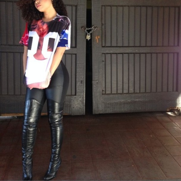 Shirt Tumblr Clothes Tumblr Outfit Tumblr Shirt Tumblr Fashion Trill Leather Leggings