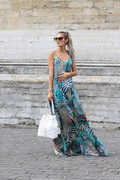 from brussels with love,blogger,dress,shoes,bag,bucket bag,white bag,maxi dress,summer outfits