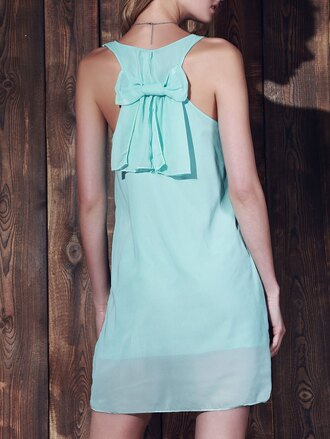 dress mint bow summer fashion style spring girly cute gamiss