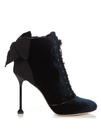 boots ankle boots velvet ankle boots velvet navy shoes