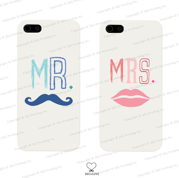 phone cover matching phone cases matching phone covers mr and mrs kiss marks mr and mrs phone cases mr and mrs phone covers matching couples his and hers gifts wedding gifts newlyweds gift galaxy s5 cases moustache iphone 4 case iphone 5 case iphone 5 case galaxy s3 phone case galaxy s4 case