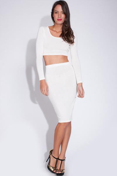 Simply sweet white skirt set · trendyish · online store powered by storenvy