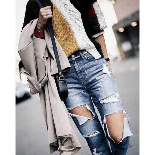 jeans tumblr blue jeans denim ripped jeans trench. Black Bedroom Furniture Sets. Home Design Ideas