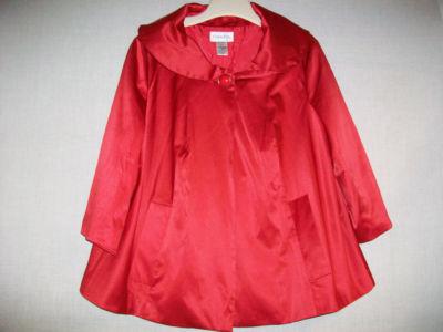 Ladies' chadwick's cape jacket sz 16w red 3/4 sleeve on ebay!