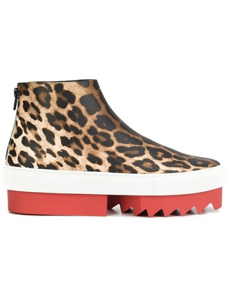 sneakers print leopard print shoes