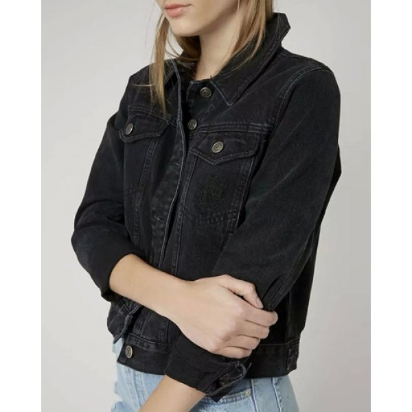 Womens denim jacket - results from brands Levi's, Unique Bargains, Ralph Lauren, products like Current Elliott The Snap Jacket, Joe's Jeans Cropped Denim Jacket at Nordstrom Rack, Style & Co Petite Denim Jacket, Created for Macy's - Black P/M, Women's Outerwear.