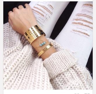 sweater beige cozy knitwear
