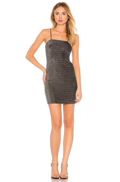 Motel dress tube dress metallic silver