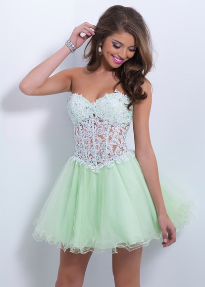 dress homecoming dress minty green dress