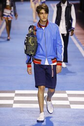 jacket,runway,model,menswear,mens t-shirt,mens shorts,tommy hilfiger,anwar hadid