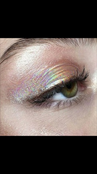 make-up eye makeup eye shadow rainbow shiny colorful