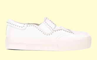 shoes ash ash shoes white shoes studded sneakers white sneakers