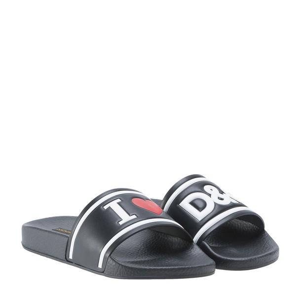 Dolce & Gabbana love sandals white black shoes