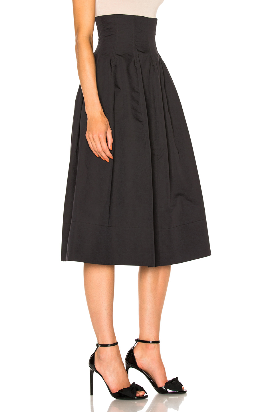 Brock Collection Sandra Skirt in Black | FWRD