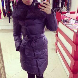 jacket fur luxury coat long
