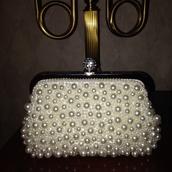bag,white,perls,diamonds
