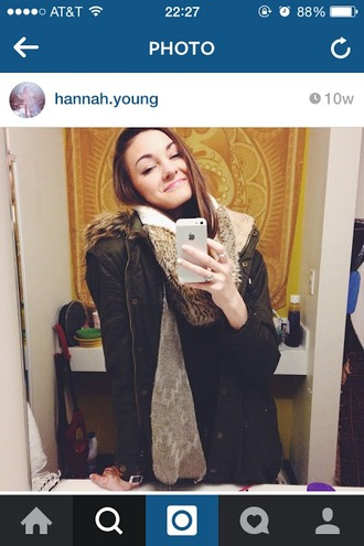 jacket winter jacket cozy winter outfits style fashion boho faux fur hood green