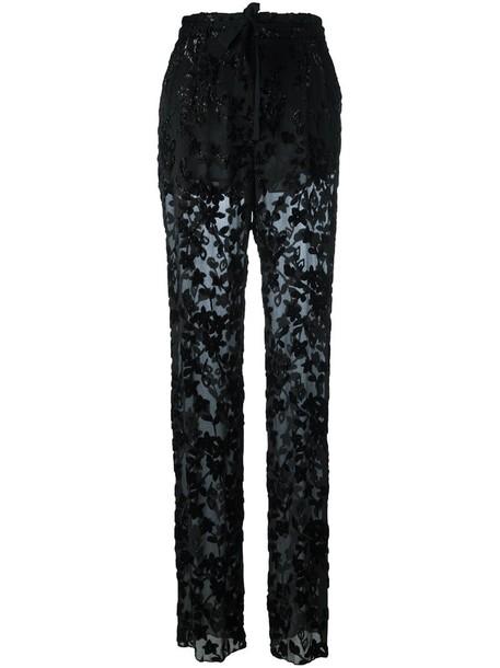 ETRO sheer women black silk pants