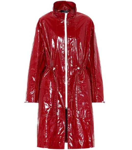 Isabel Marant Ensel coated jacket in red
