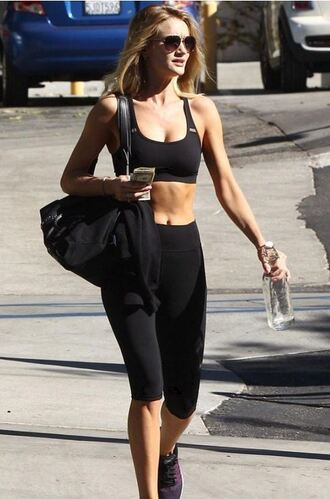leggings sportswear sports bra rosie huntington-whiteley