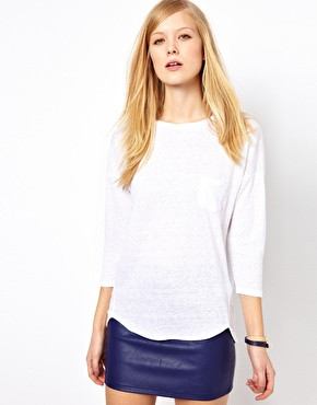 Whistles | Whistles Lacie Linen Twist Neck Top at ASOS