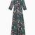 MAX&Co. - Langes Kleid aus Seide und Lamé, Petrolfarbenes Muster