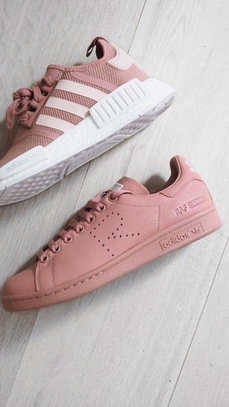 shoes pink adidas adidas raf simons pink sneakers