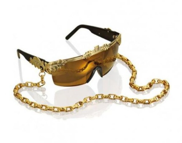 sunglasses glasses glamour sexy chain jelwery gold jewelry goggles sunny