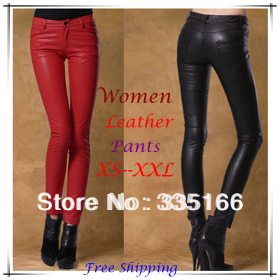 0c281e951aff83 Aliexpress.com : Buy Brand New Women Leather Pants With Matte PU  Red/Black/Rose, Fashion Slim Hip Skinny ...