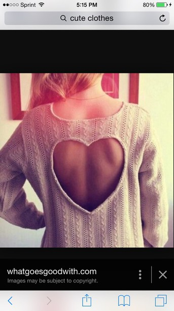 sweater heart cute grey sweater