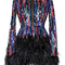 Bead and feather embroidered mini dress | moda operandi