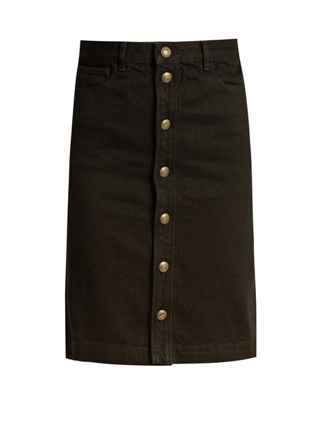 A.P.C. skirt mini skirt denim mini black