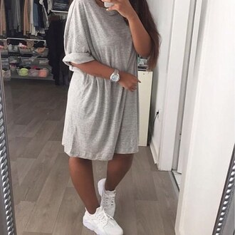 t-shirt outfit made top blouse big t shirt big shirts boyfriend tops grey marl grey dress oversized sweater