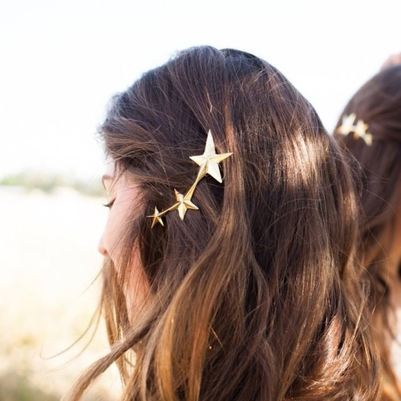 jewels hair clip hair accessories hairstyles stars vintage