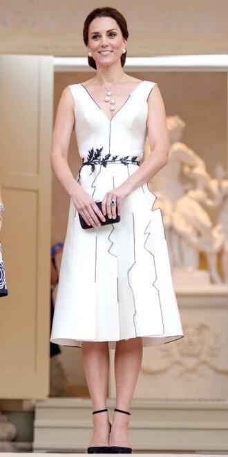 shoes dress midi dress kate middleton white dress