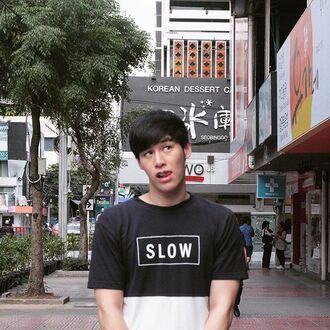 t-shirt top white top black white black t-shirt black top cool boyish homme black and white squared shirt thailand instagram menswear randomtag