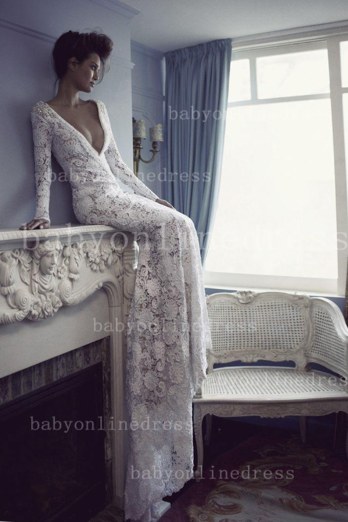 sheath column wedding dress