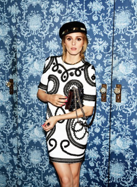 dress black and white black and white dress olivia palermo