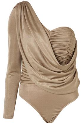 Draped bodysuit by rare opulence**