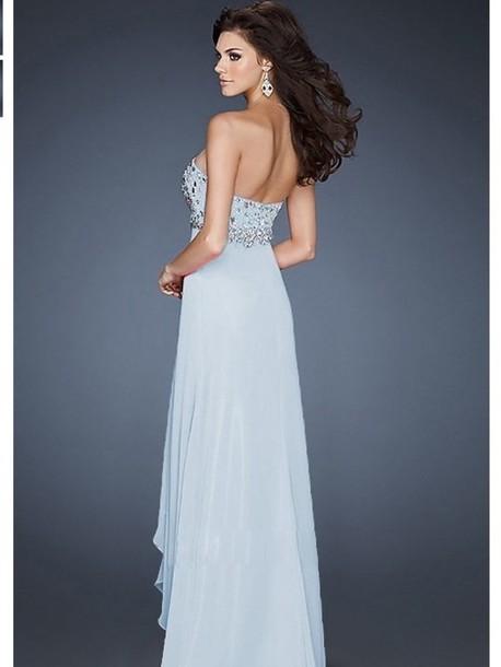 Dress Prom Dress Light Blue Embellished Dress Chiffon