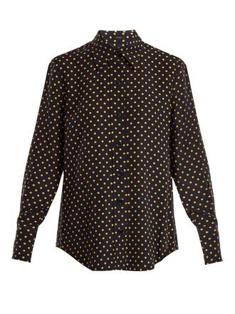 shirt new print navy top