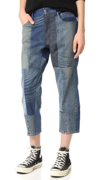 6397 Patchwork Shorty Jeans - Patchwork