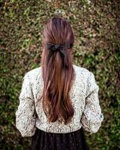 hair accessory,tumblr,hair,hair bow,hairstyles,brunette